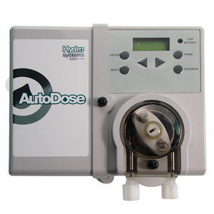 AutoDose dosing pump for drain maintenance